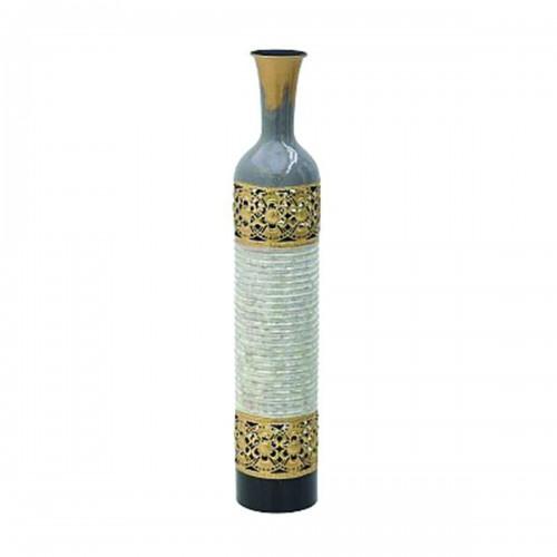 Metal Vase White&Gold